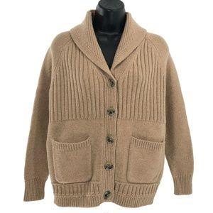 Madewell Cardigan Sweater Shawl Neck Merino Wool